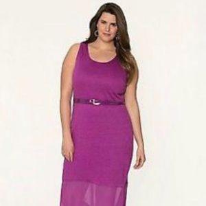 NWT Lane Bryant Maxi Dress Sleeveless Purple Dress